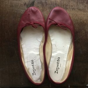 Repetto vermillion ballet flats